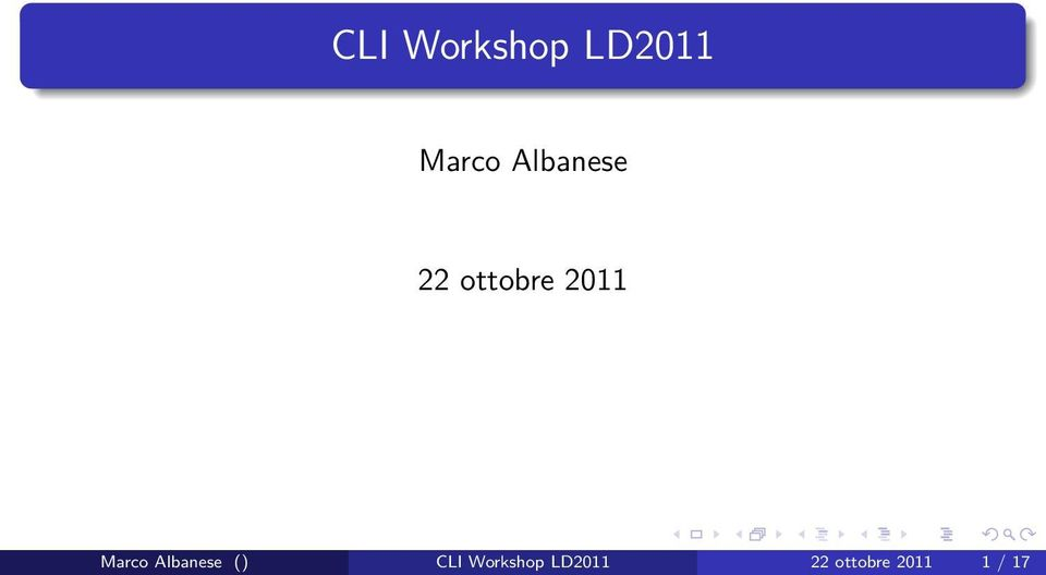 Marco Albanese () CLI