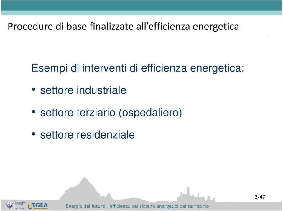 efficienza energetica: settore industriale