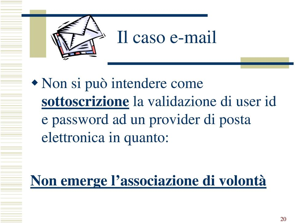 password ad un provider di posta elettronica