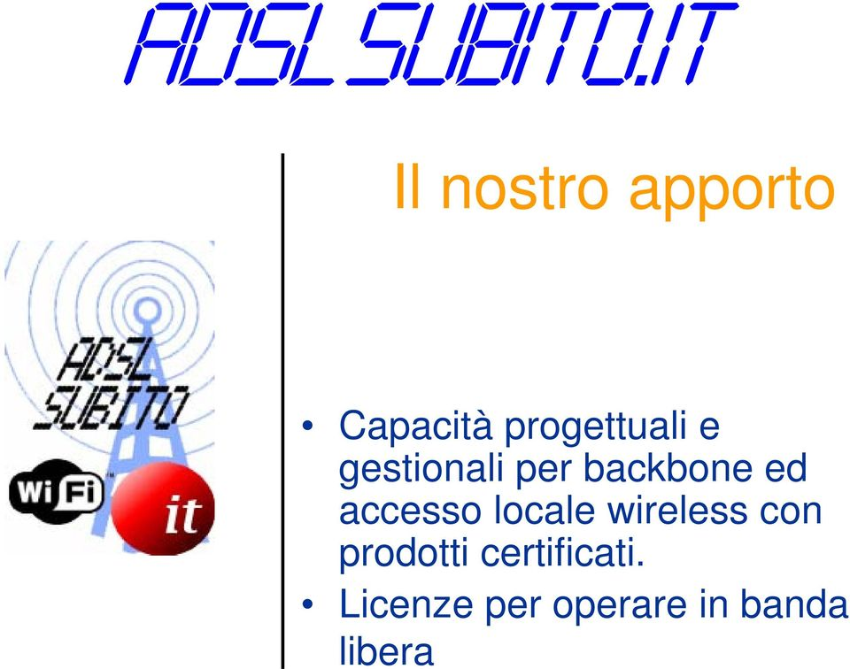 locale wireless con prodotti