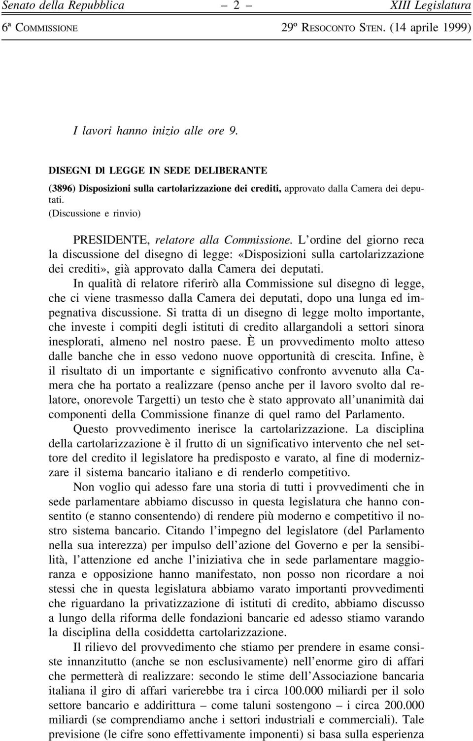 6 commissione permanente pdf for Camera dei deputati ordine del giorno