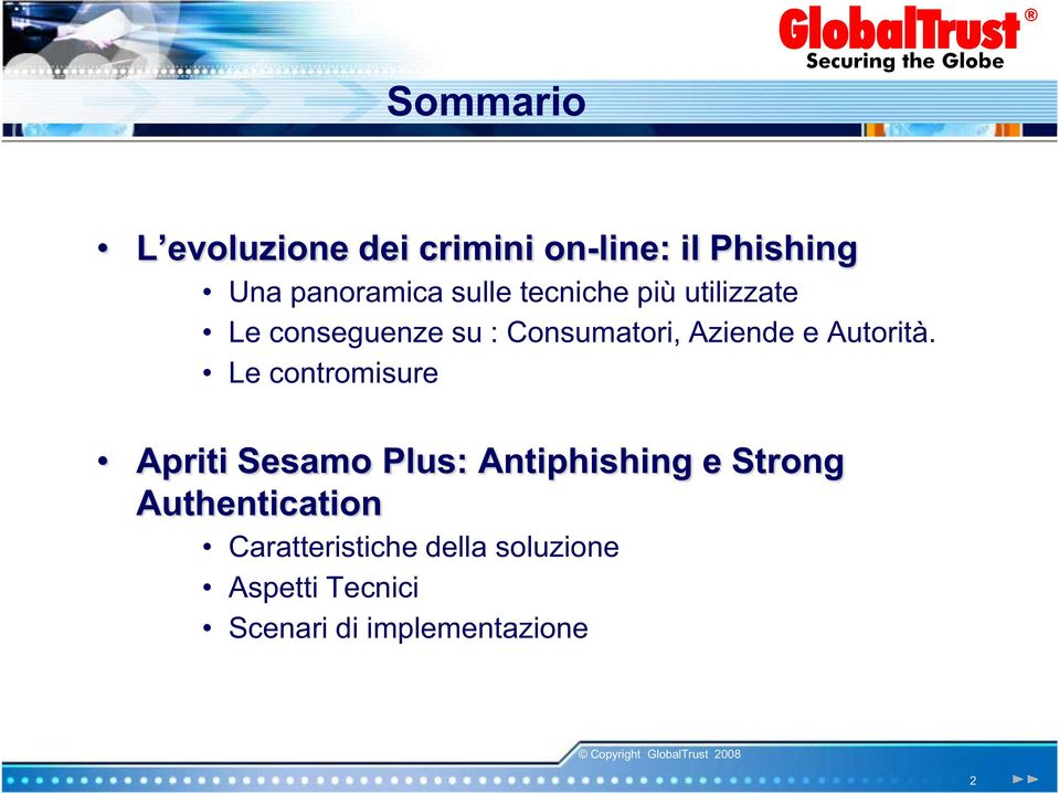 Le contromisure Apriti Sesamo Plus: Antiphishing e Strong