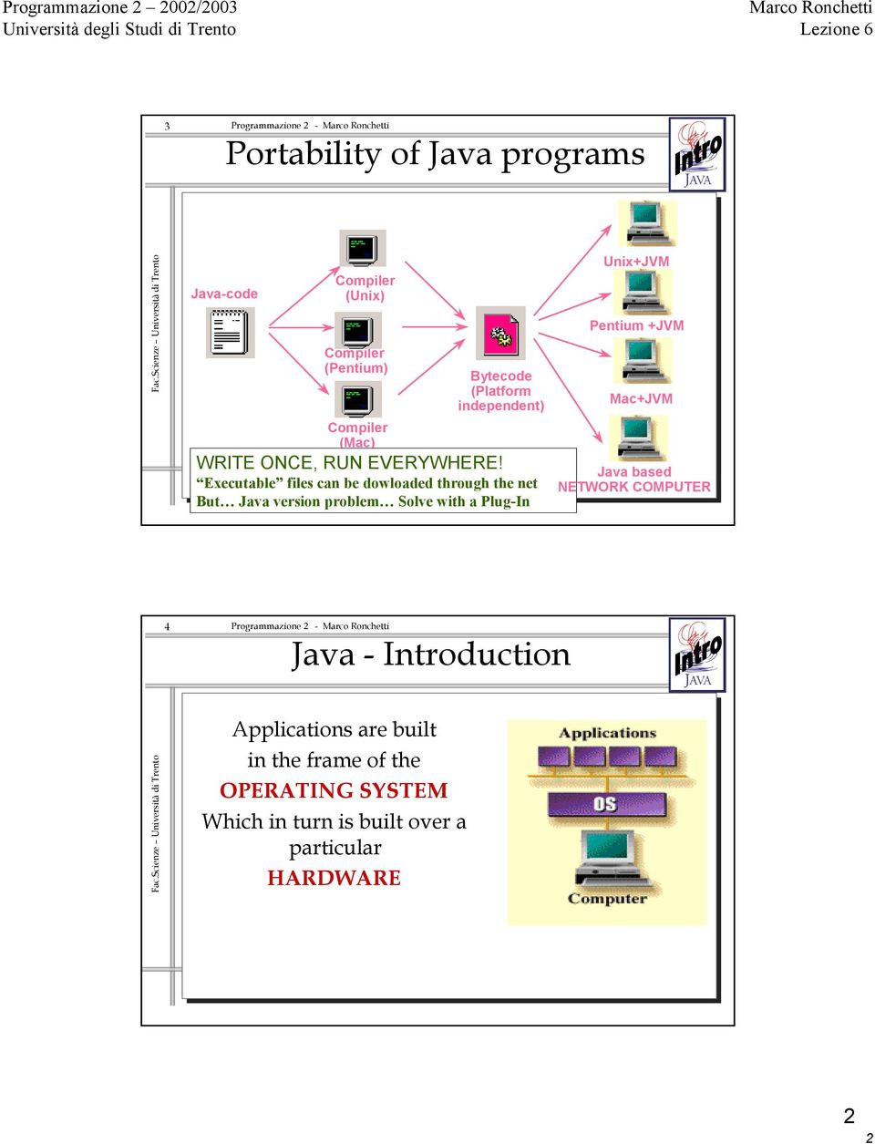 Executable files can be dowloaded through the net But Java version problem Solve with a Plug-In