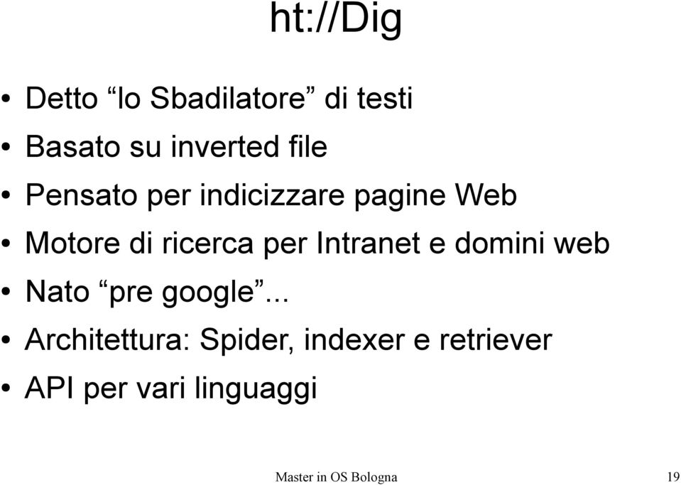 Intranet e domini web Nato pre google.