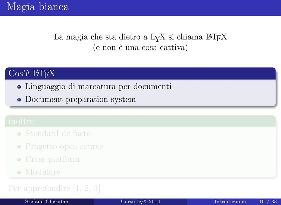 preparation system inoltre Standard de facto Progetto open source