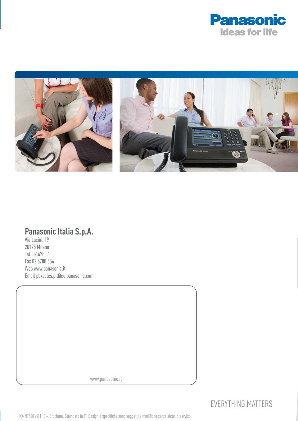 panasonic.it KX-NT400 v2[1].0 Brochure. Stampato in IT.