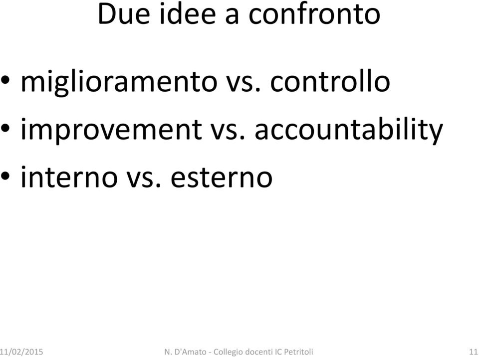 accountability interno vs. esterno N.