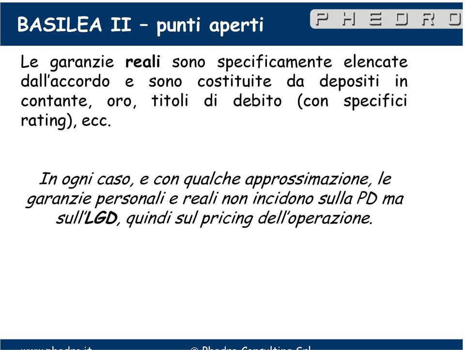 specifici rating), ecc.