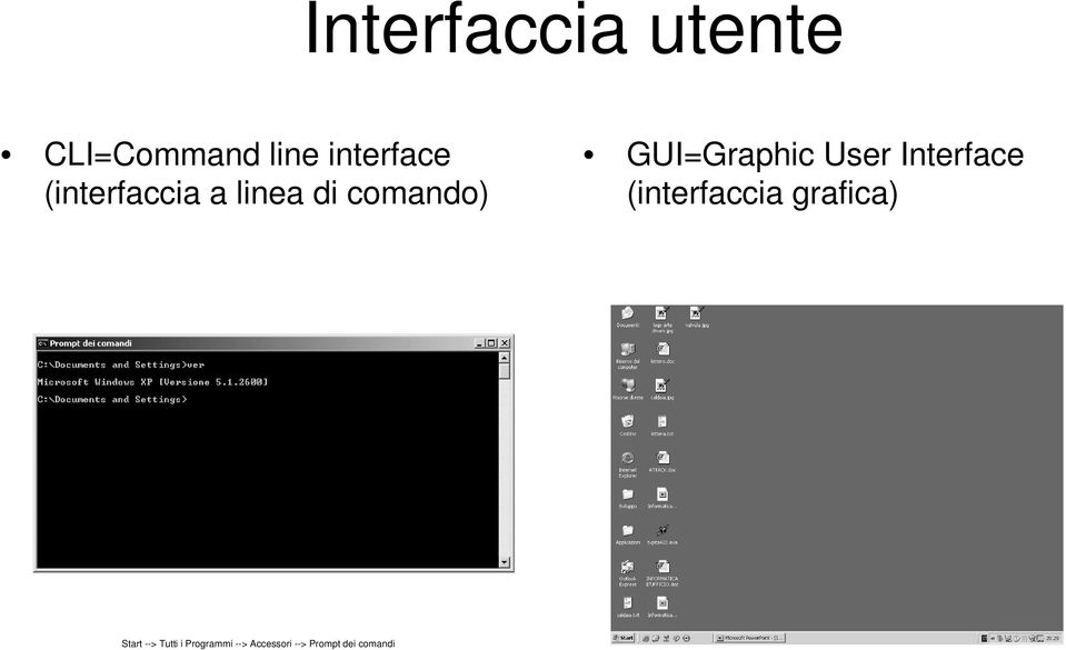 User Interface (interfaccia grafica) Start -->