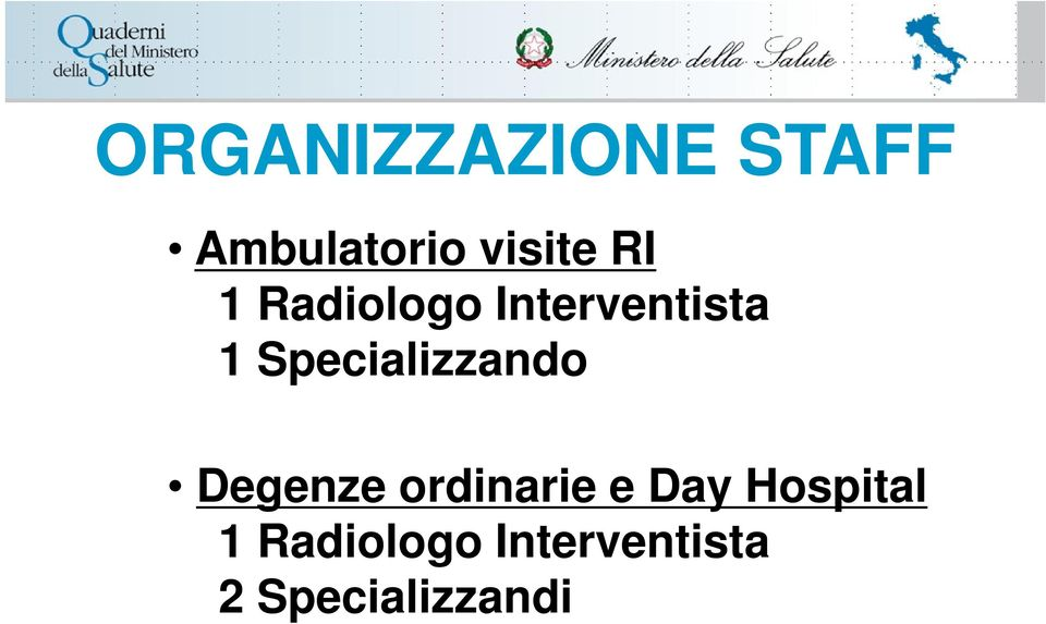 Specializzando Degenze ordinarie e Day