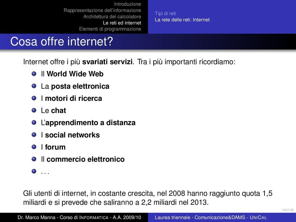 chat L apprendimento a distanza I social networks I forum Il commercio elettronico.