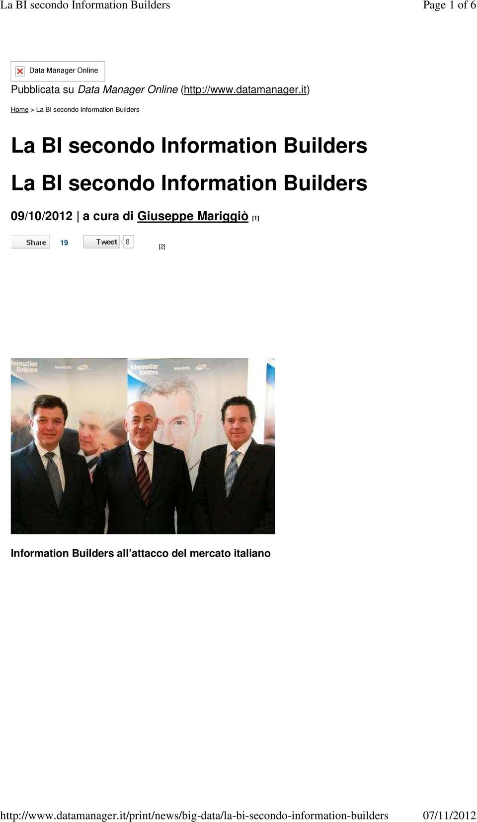 it) Home > La BI secondo Information Builders La BI secondo Information
