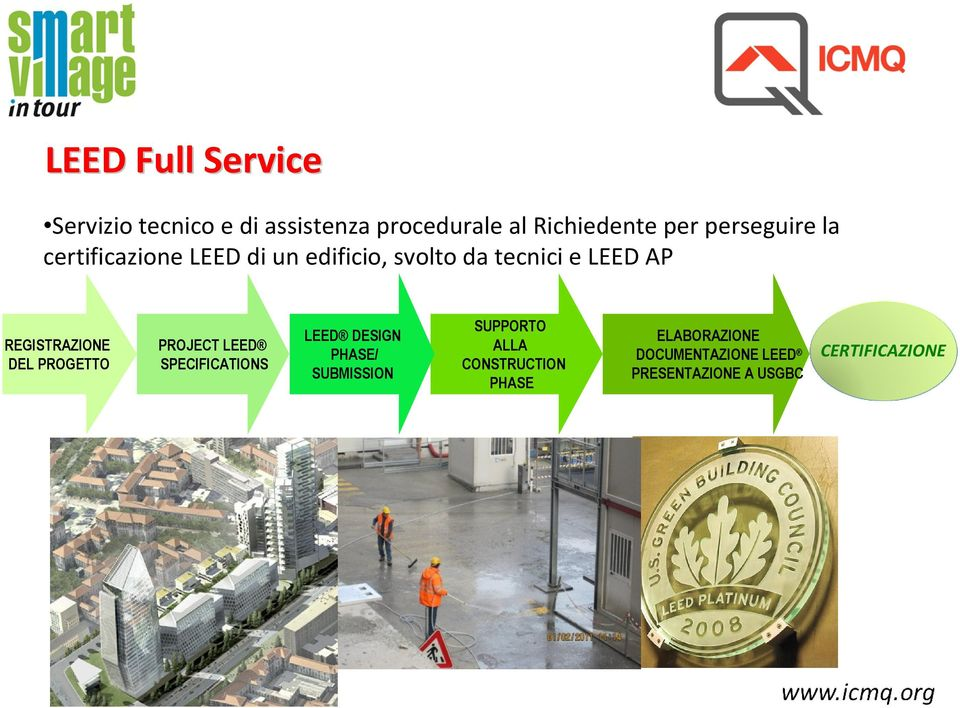 REGISTRAZIONE DEL PROGETTO PROJECT LEED SPECIFICATIONS LEED DESIGN PHASE/ SUBMISSION