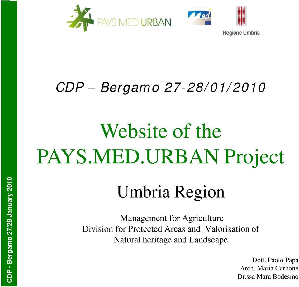 Management for Agriculture Division for Protected Areas and