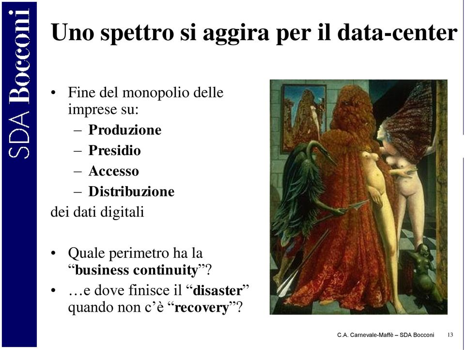digitali Quale perimetro ha la business continuity?