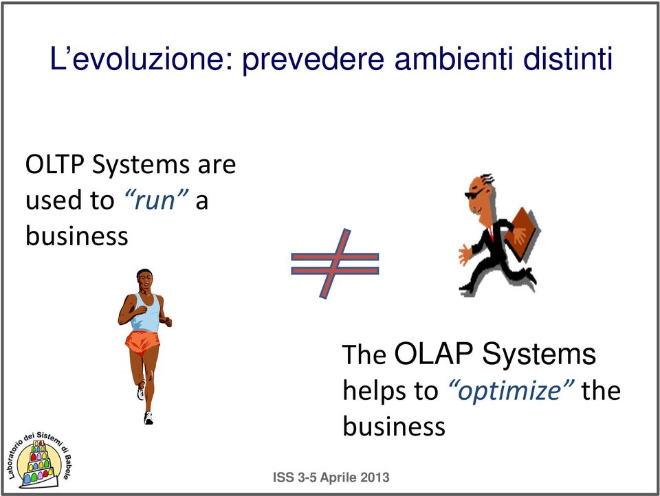 to run a business The OLAP