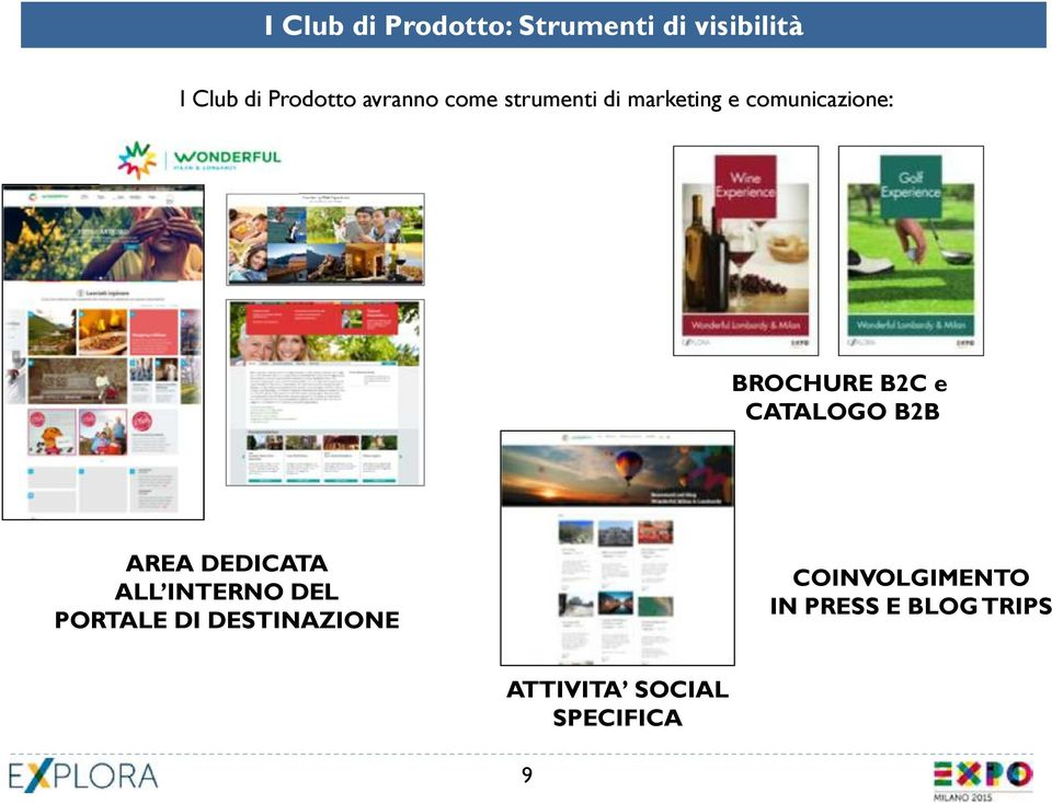 e CATALOGO B2B AREA DEDICATA ALL INTERNO DEL PORTALE DI