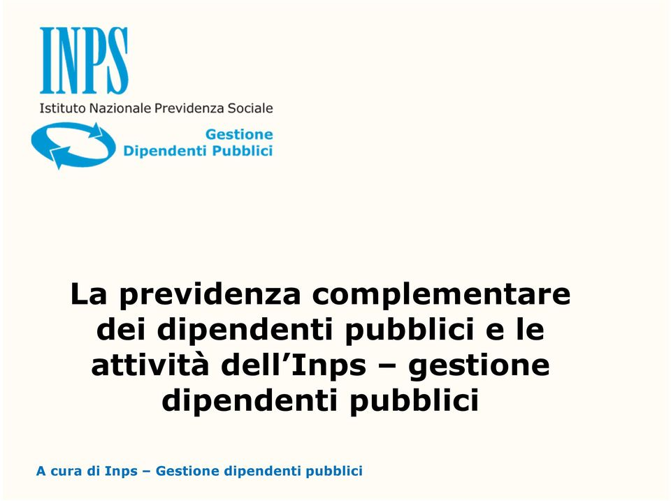 dell Inps gestione dipendenti