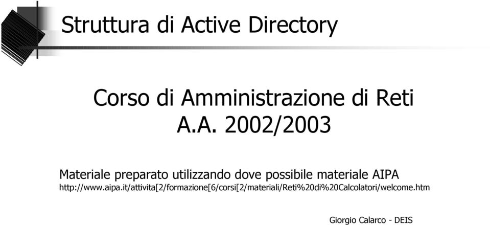 materiale AIPA http://www.aipa.