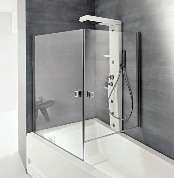 SOPRAVASCA LACCATO LUCIDO BIANCO 160X21 ENCLOSURE FOR BATHTUB GLOSS LACQUER WHITE 125X21 4 getti idromassaggio / 3