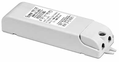 MW 70 ED OT DIMMABE 12 V electronic transformer for ED bulbs and halogen lamps Trasformatore elettronico 12 V per lampade ED e alogene SEV Voltage Tensione 230 240 V Frequency Frequenza 50.