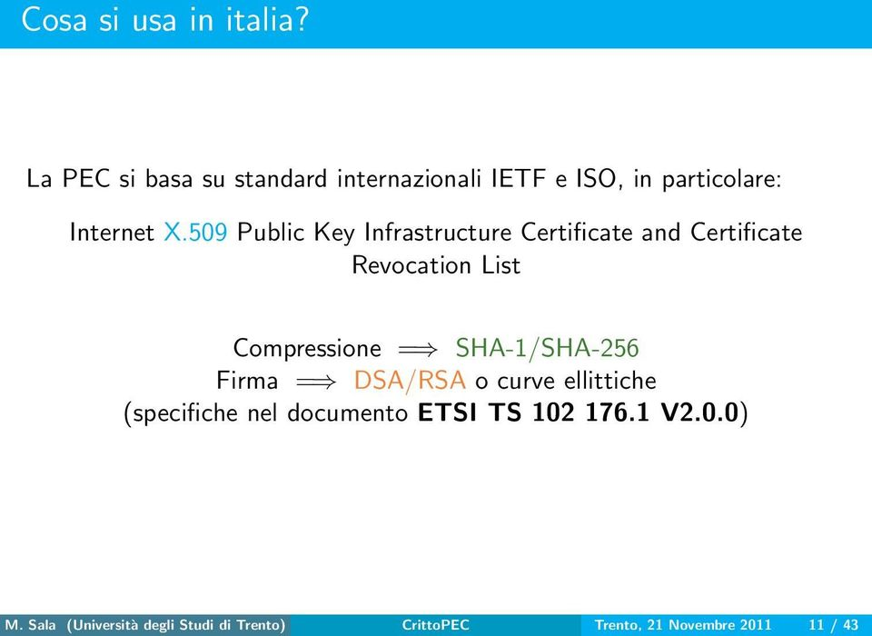 509 Public Key Infrastructure Certificate and Certificate Revocation List Compressione =
