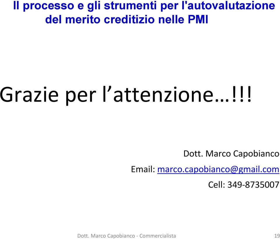 Marco Capobianco Email: