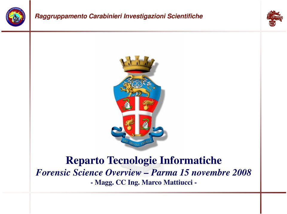 Forensic Science Overview Parma 15