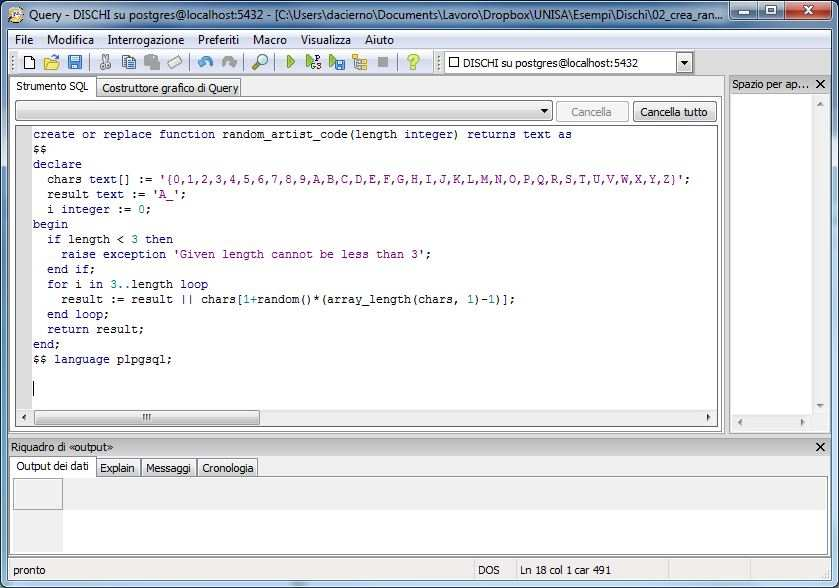 Uso diretto SQL Linguaggi ad hoc Stored Procedures Triggers In linguaggi classici Call Level Interface ODBC JDBC Basi