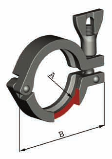 saldare Clamp But welding ferrule Clamp Materials: AISI 316 Art.