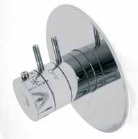 Compact 3-4-5-way built-in multifunction shower with thermostatic control with