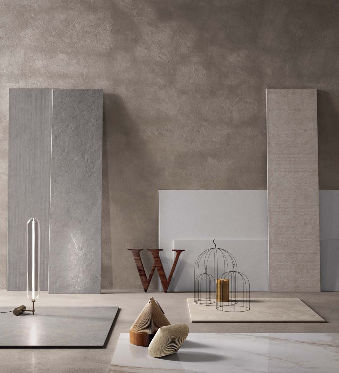 AROUND THE W_ALL W_ALL e dintorni The graphic designs and colour palette of W_ALL tiles are based on those of the main FLAVIKER floor tile collections, recreating their aesthetics in a soft version
