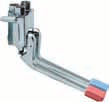 03068 Rubinetto a pedale esterno montaggio a parete Foot operated tap wall mounted type 0 03069 Miscelatore a pedali esterno montaggio a pavimento Foot operated mixer floor mounted type 5 03070