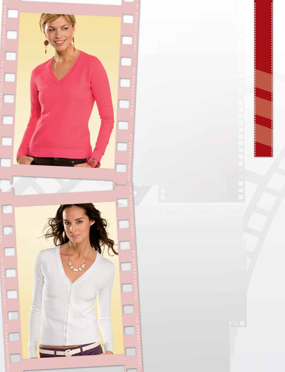 H6810 Pullover donna collo V 86% Cotone 13% Poliammide 1% Elastane 107 Taglie S-XL Cartone 24 Pz Pacco 6 Pz Strawberry SB Soft Green SG Black