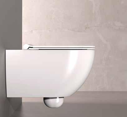The wc and bidet form btw will be equipped with the new system of hidden fixing, easy to install and perfect aesthetically because it allows the