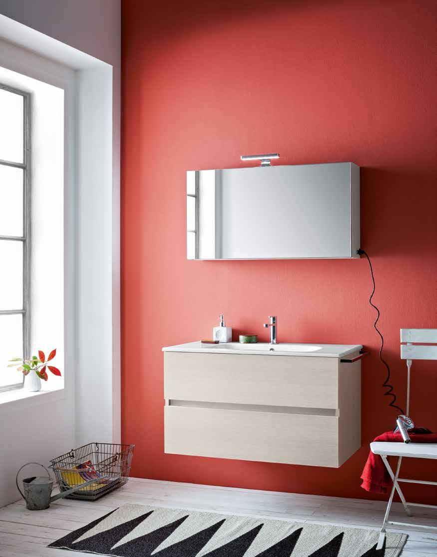 finiture larice neve type opening with drawer size W 90 x D 50 x H 52 cm top integrated