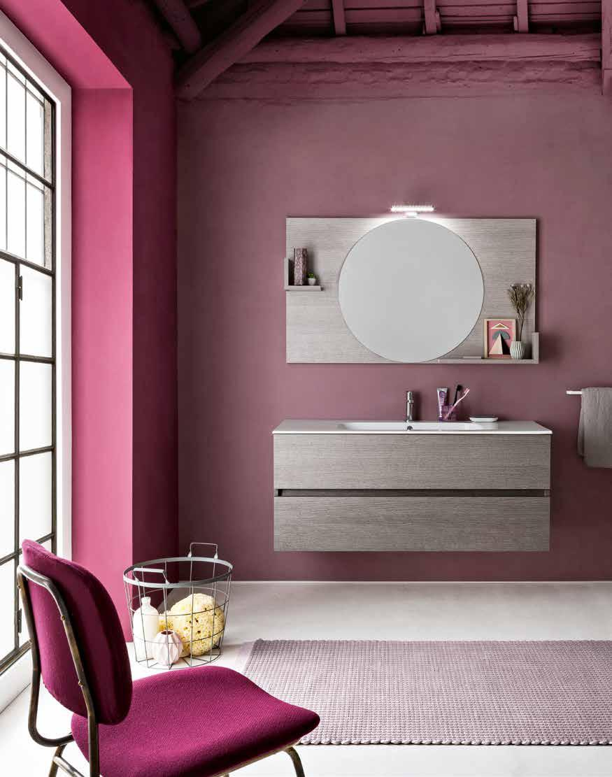 finiture larice ecrù type opening with drawer size W 120 x D 50 x H 52 cm top integrated