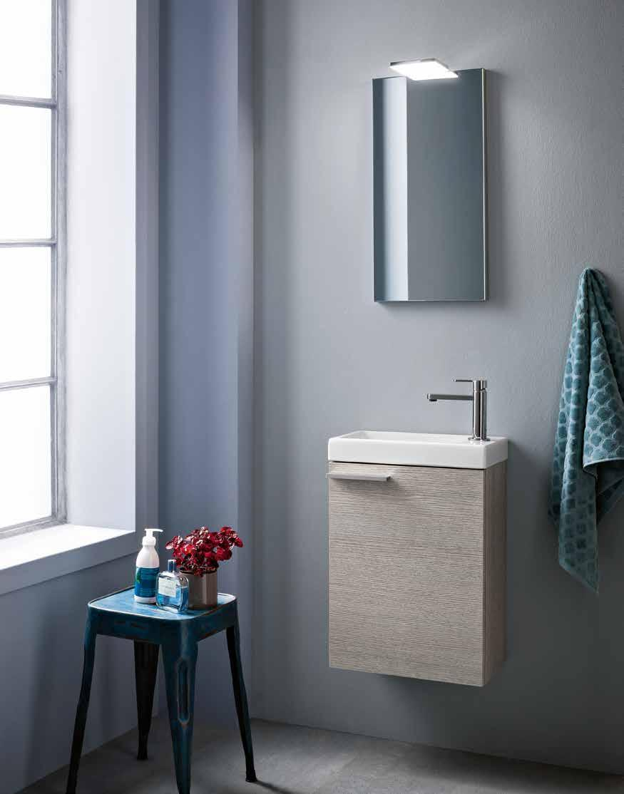 larice ecrù type opening with door size W 40 x D 20 x H 52 cm washbasin Small W 40 x D 22 x H 6 cm in