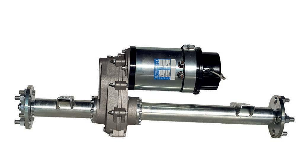 Electric motors up to 2000 w and 400 Nm max torque.