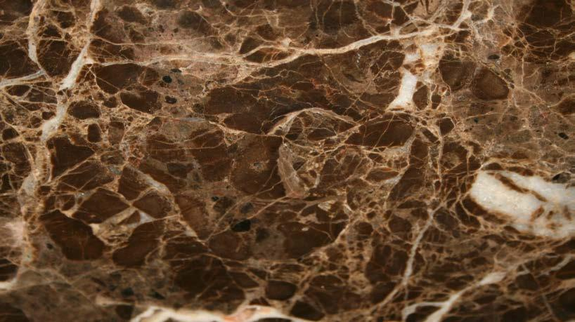 EMPERADOR DARK MARBLE The indicated image is only indicative Color : brown bottom with white/beige striping. Use : internal. Finishing : natural lucid.