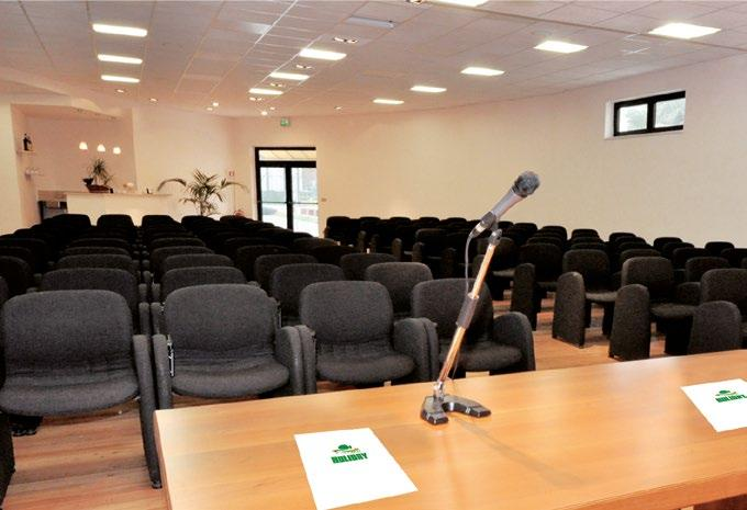 Its two 120 or 40-seater conference halls with Wi-Fi