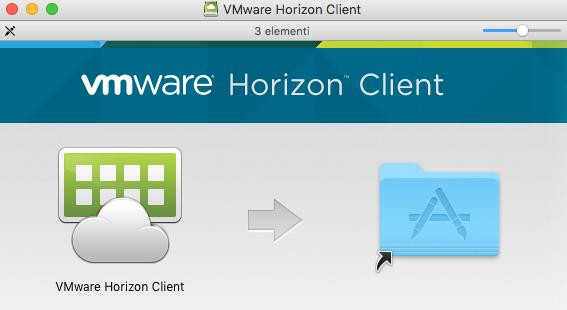 Occorre scegliere il client VMware Horizon Client for Mac cliccando su Go to Download. I Client VMware Horizon sono disponibili anche negli app-store appropriati.
