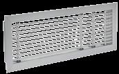 PG B+3 x H+3 PC Characteristics: LAF PC - PG: LAF series grilles can be fitted