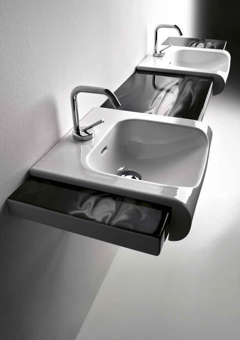 Inka washbasins come in two sizes and can be cabinet-mounted or arranged alone, in pairs, or in rows. Don t hold back on the designer touches you ve dreamed of.