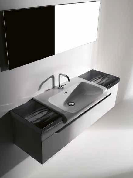 washbasin 60 piano in ceramica 32 cm Arte 2 ceramic counter 32 cm Arte 2 mobile sospeso