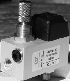 valvole di blocco con RFU integrato pneumatically piloted stop valves with integrated RFU Modulo di controllo con funzione di intercettazione e regolazione Stop and regulation function Valvola di