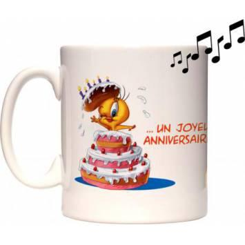 "birthday"" STAMPABILE A SUBLIMAZIONE Tazza musicale "" Happy birthday"" STAMPABILE A"