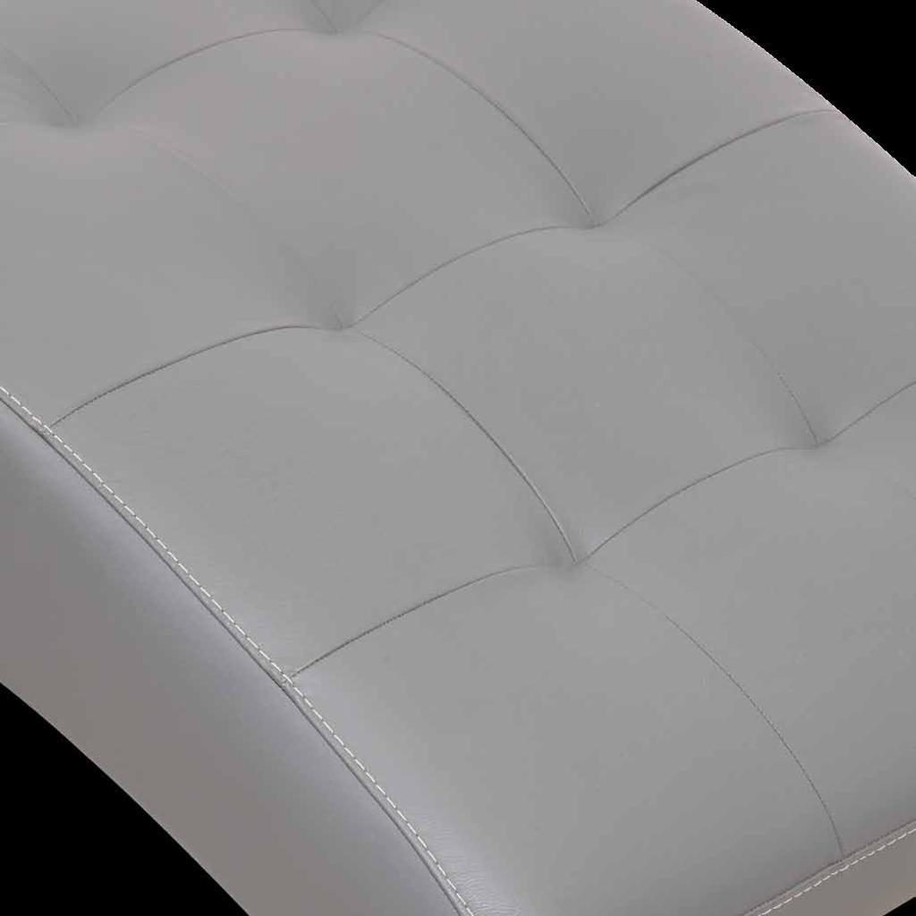 Wood and agglomerate wood fibers structure; first quality leather and fabric upholstery; polyurethane foam and