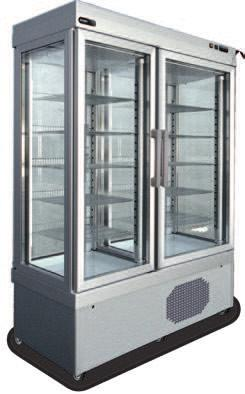 S BT refrigerated fixed shelves PST 740/741 Illuminazione imballo Peso Netto/Lordo Net/Gross weight (kg) PST740TNV 9PST740TNVN10 5.