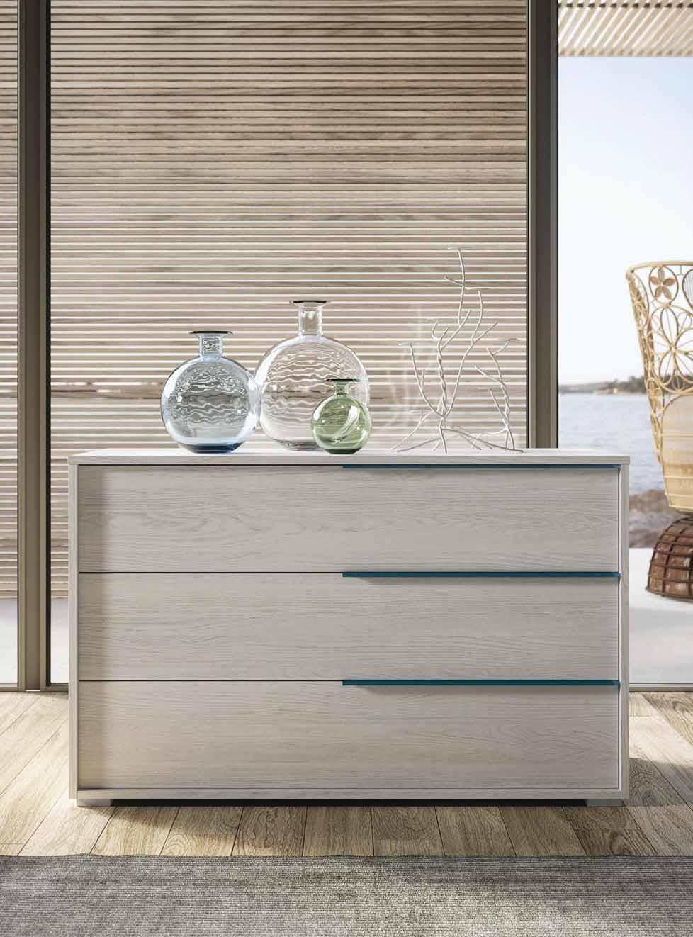BETA CHEST OF DRAWERS, OLMO PERLA